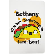 Personalised Taco White Notebook