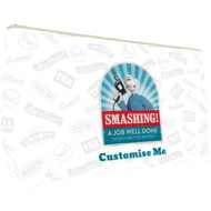 "Personalised Wallace And Gromit ""Smashing!"" Medium Wash Bag"