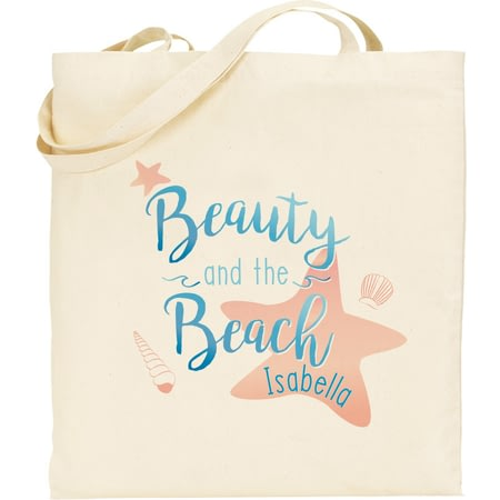 Personalised Beauty & The Beach Tote Bag