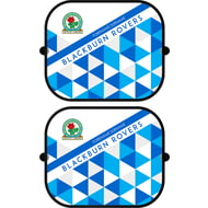 Personalised Blackburn Rovers FC Patterned Pair of Car Side Window Sunshades