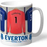 Personalised Everton FC Goalkeeper Dressing Room Shirts Mug