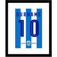 Personalised Huddersfield Town AFC Retro Shirt Framed Print