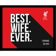 Personalised Liverpool FC Best Wife Ever 10x8 Photo Framed