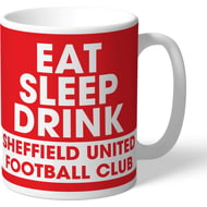 Personalised Sheffield United FC Eat Sleep Drink Mug