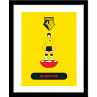 Personalised Watford Player Figure Framed Print
