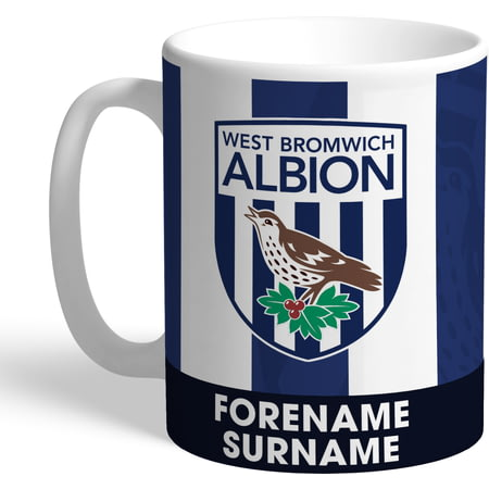Personalised West Bromwich Albion FC Bold Crest Mug