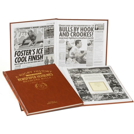 Personalised Bradford Bulls Rugby Newspaper Book