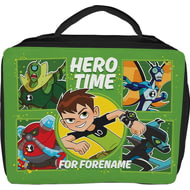 Personalised Ben 10 Hero Time Insulated Lunch Bag - Black