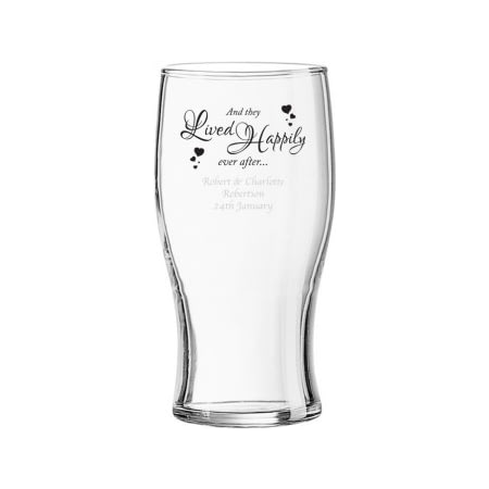 Personalised Happily Ever After Pint Glass