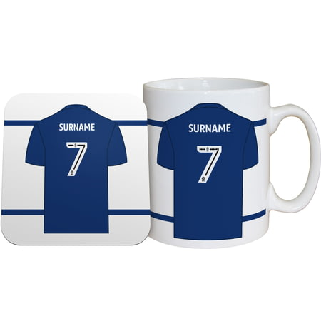 Personalised Millwall FC Shirt Mug & Coaster Set