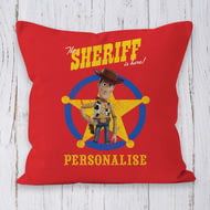 Personalised Toy Story 4 Sheriff Is Here Cushion - 45x45cm