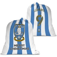 Personalised Sheffield Wednesday FC Back Of Shirt Santa Sack