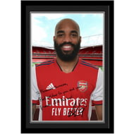 Personalised Arsenal FC Lacazette Autograph Photo Framed