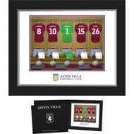 Personalised Aston Villa FC Goalkeeper Dressing Room Shirts Photo Folder