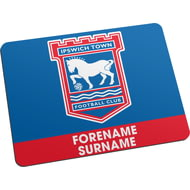 Personalised Ipswich Town FC Bold Crest Mouse Mat