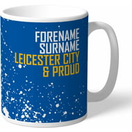 Personalised Leicester City FC Proud Mug