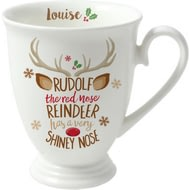 Personalised Rudolph The Red-Nosed Reindeer Marquee Ceramic Mug