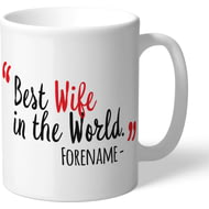 Personalised Sheffield United Best Wife In The World Mug
