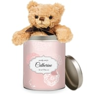 Personalised Best Ever Floral Teddy In A Tin
