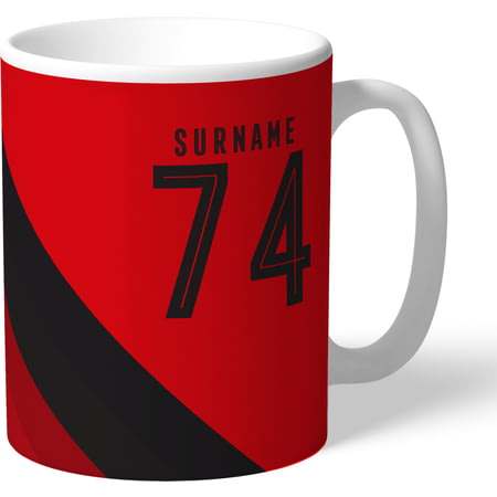 Personalised Manchester United Stripe Mug