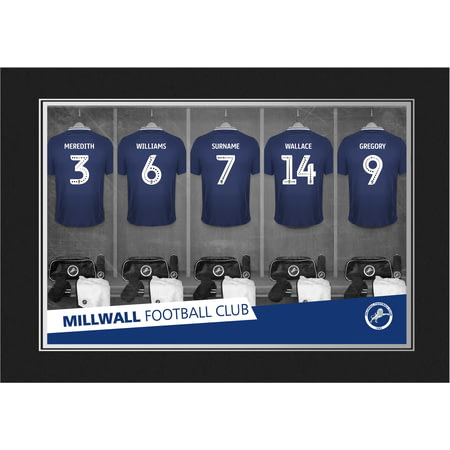 Personalised Millwall FC 9x6 Dressing Room Shirts Photo Folder