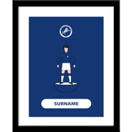 Personalised Millwall FC Player Figure Framed Print