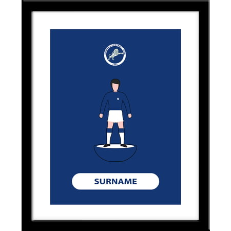 Personalised Millwall FC Player Figure Print