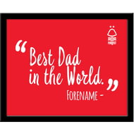 Personalised Nottingham Forest Best Dad In The World 10x8 Photo Framed