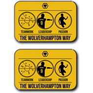 Personalised Wolves Way Rear Car Mats