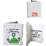 Personalised Cosmic Alien Ceramic Message Card