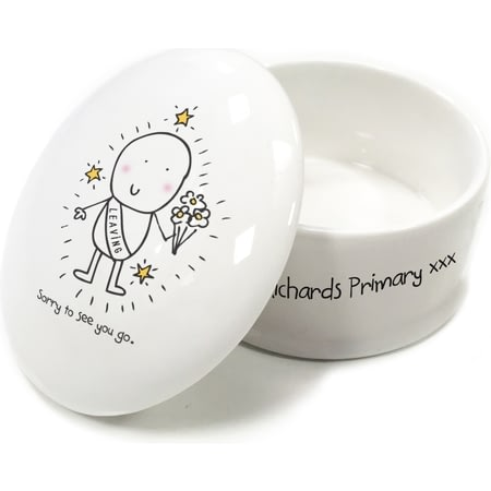 Personalised Chilli & Bubble's Leaving Trinket Box