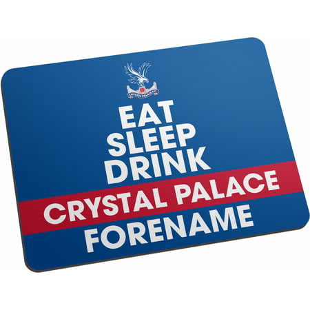 Personalised Crystal Palace FC Eat Sleep Drink Mouse Mat