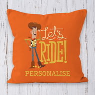 Personalised Toy Story 4 Woody Let's Ride Cushion - 45x45cm