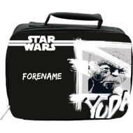 Personalised Star Wars Yoda Paint Insulated Lunch Bag - Black
