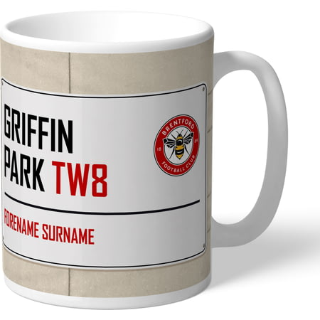 Personalised Brentford FC Griffin Park Street Sign Mug