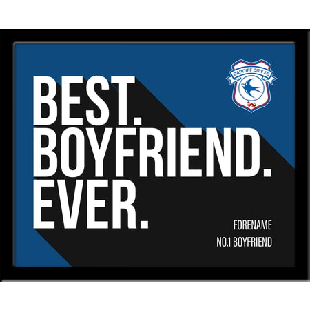 Personalised Cardiff City Best Boyfriend Ever 10x8 Photo Framed