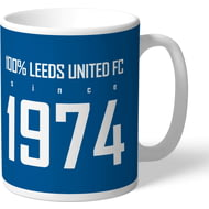 Personalised Leeds United FC 100 Percent Mug
