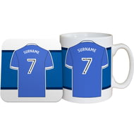 Personalised Sheffield Wednesday FC Shirt Mug & Coaster Set