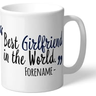 Personalised Tottenham Hotspur Best Girlfriend In The World Mug