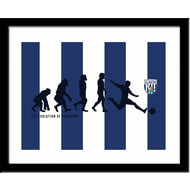Personalised West Bromwich Albion Evolution Print
