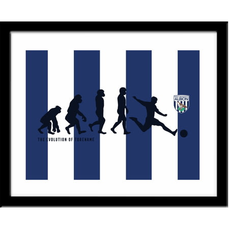 Personalised West Bromwich Albion Evolution Framed Print