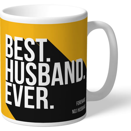 Personalised Wolves FC Best Husband Ever Mug