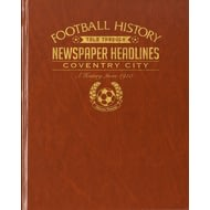 Personalised Coventry City Football Newspaper Book - Leatherette Cover