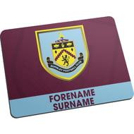 Personalised Burnley FC Bold Crest Mouse Mat