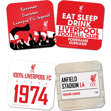Personalised Liverpool FC Coasters