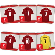 Personalised Liverpool FC Goalkeeper Dressing Room Shirts Coasters Set of 6