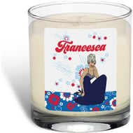 Personalised Riviera Floral Scented Candle