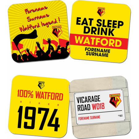 Personalised Watford FC Coasters