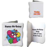 Personalised Llama Happy Birthday Ceramic Message Card