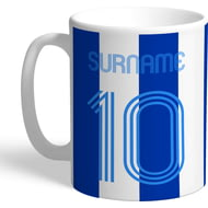 Personalised Brighton & Hove Albion FC Retro Shirt Mug